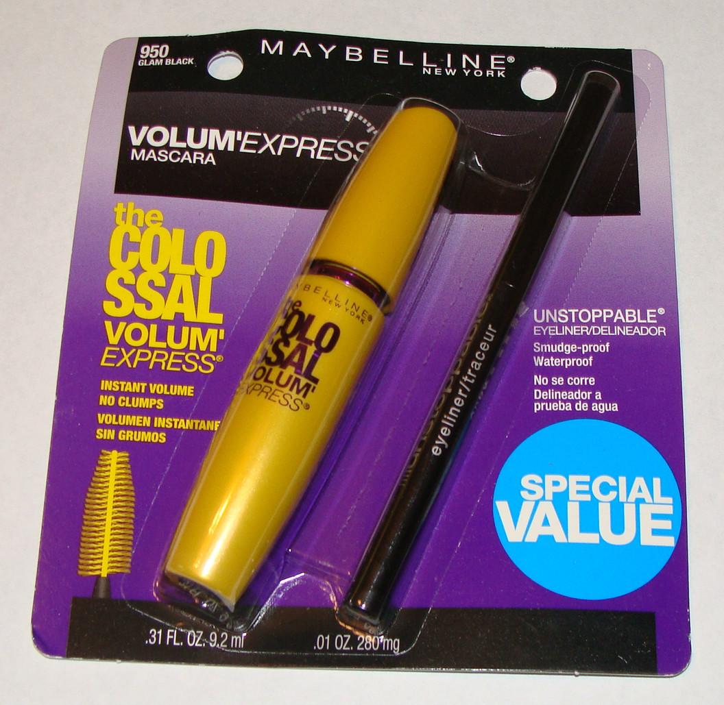 Mascara Maybelline Colossal Volum Express + Lapis Delineador olhos Maybelline Preto