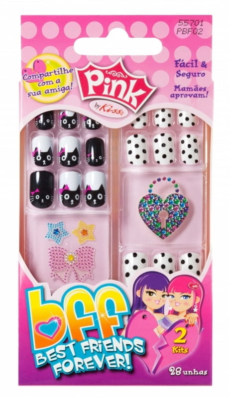UNHAS POSTIÇAS INFANTIL – BEST FRIENDS FOREVER - FIRST KISS