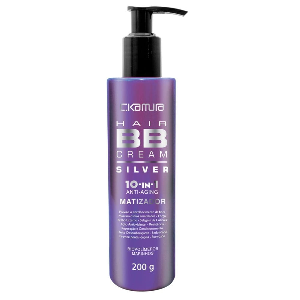 HAIR BB CREAM C.KAMURA MATIZADOR SILVER 10-IN-1 - CELSO KAMURA
