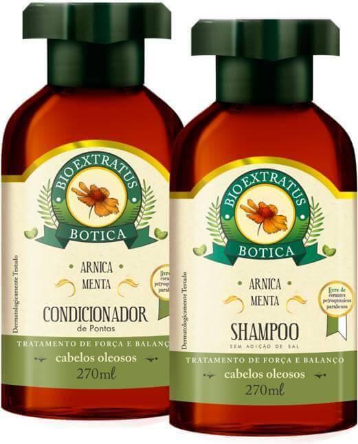 Kit Bio Extratus Botica Arnica Menta - Shampoo e Condicionador - Bio Extratus