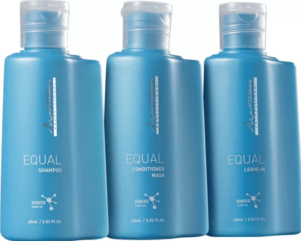 Kit Mediterrani Equal - Shampoo + Condicionador + Leave-in - Mediterrani
