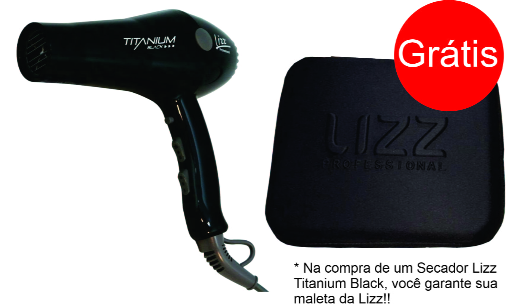 Secador Lizz Titanium Black - Lizz