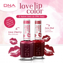 BATOM TINTA - LOVE LIP COLOR – KIT LOVE RED E LOVE CHERRY– DNA ITALY