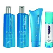 Mediterrani Equal - Shampoo + Condicionador + Leave-in + SHINE GLOSS - Equal