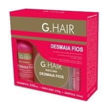 DESMAIA FIOS G HAIR - SHAMPOO + MASCARA + AMPOLA - G.HAIR