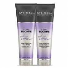 KIT SHAMPOO + CONDICIONADOR SHEER BLONDE COLOUR RENEW - JOHN FRIEDA