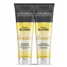 KIT SHAMPOO E CONDICIONADOR SHEER BLONDE GO BLONDER LIGHTENING CLAREADOR - JOHN FRIEDA