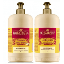 KIT SHAMPOO E CONDICIONADOR TUTANO E CERAMIDAS 1L - BIO EXTRATUS