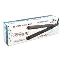 Prancha Profissional Lizz - Titanium Black Chapinha 230C / 450 F - Lizz