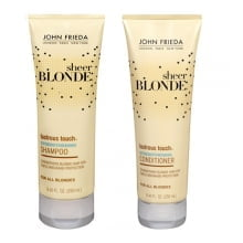 SHAMPOO + CONDICIONADOR JOHN FRIEDA SHEER BLONDE LUSTROUS TOUCH STRENGTHENING - JOHN FRIEDA