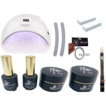Kit Unhas Polygel Alongamento de Unhas Led e Uv