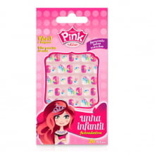 Unhas Postiças Infantil – Pink By Kiss – Estrelinha